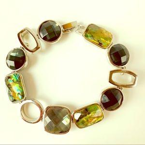 Lia Sophia Abalone Resin Silver Tone Bracelet